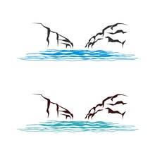Rock And River Logo Template Illustration Design. Vector EPS 10.