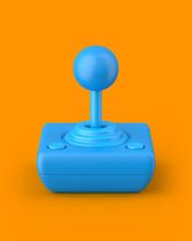 Blue Retro Joystick On An Oran...