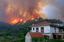 Wildfire Near The Houses