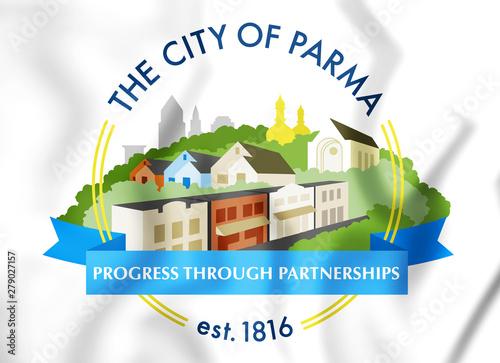 Fotografie, Obraz  3D Seal of Parma (Ohio), USA. 3D Illustration.