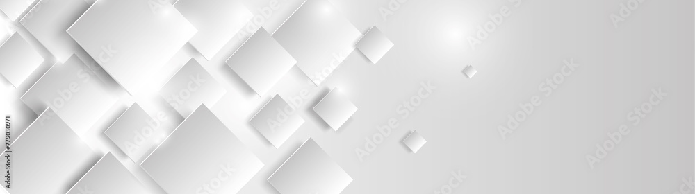 Fototapeta abstract geometric background with white cubes