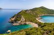 Porto Timoni is an amazing beautiful double beach in Corfu, Greece