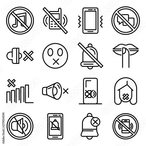 Obraz na plátne Silence icons set