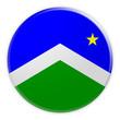 canvas print picture - US City Button: Seward, Alaska Flag Badge, 3d illustration on white background