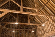 Inside View Of Old Wooden Roof...