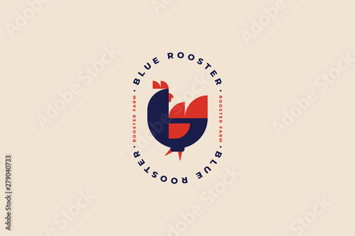 Valokuva Logo template for poultry farm and poultry farm