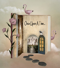Fairy Tale Book With An Open D...