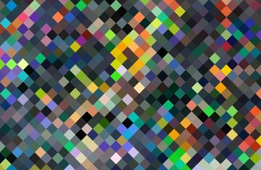 FototapetaPixel art chaotic mosaic background. Multicolor abstract pattern.