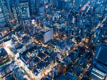 都会の摩天楼 俯瞰