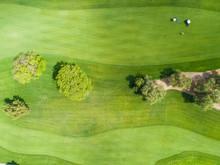 ゴルフ場の鳥瞰図