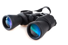 Black Binoculars Isolated Over...