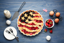 Tasty American Flag Pie And In...
