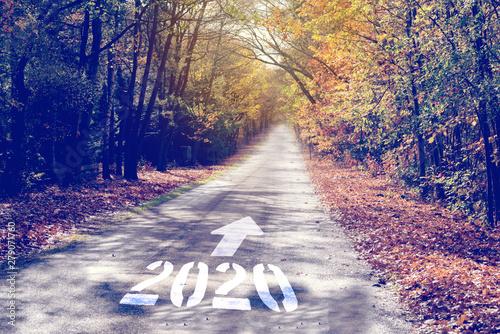 Fotografie, Tablou  Ein Weg und in das Jahr 2020