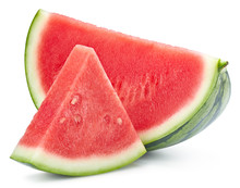 Watermelon Slice Isolated Clipping Path
