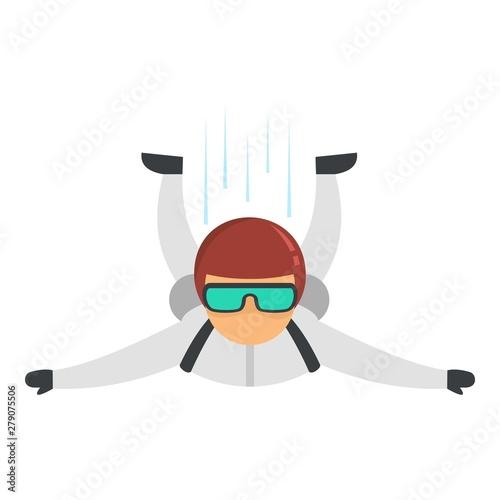 Tableau sur Toile Skydiver air diving icon