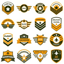 Airforce Logo Set. Flat Set Of...