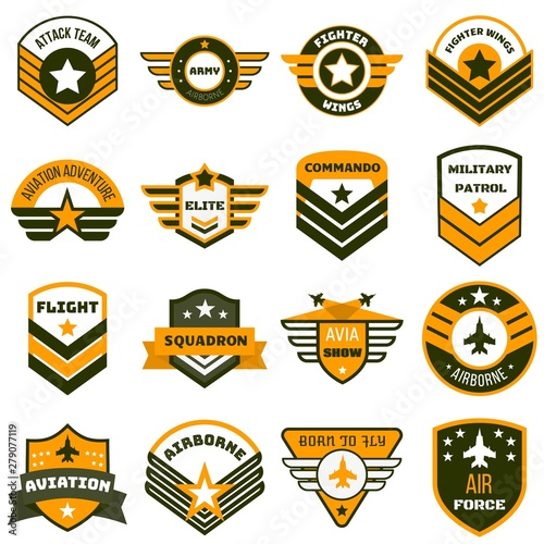 Airforce logo set Fototapeta