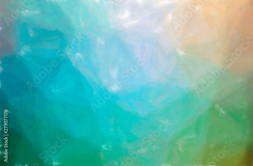 Fototapety, obrazy: Illustration of abstract Blue, Brown And Green Watercolor Wash Horizontal background.
