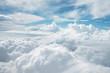 Leinwandbild Motiv 雲の上から見える空の景色
