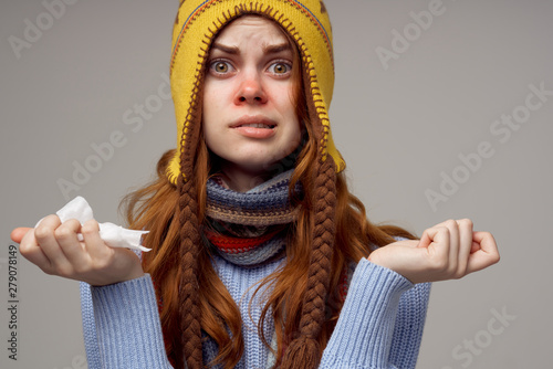 Cuadros en Lienzo portrait of a woman in sweater