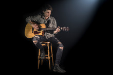 Musician Playing Acoustic Guit...