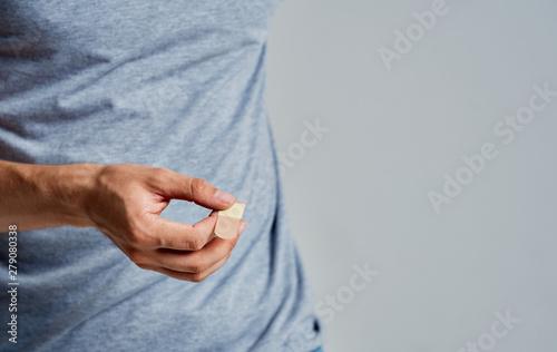 Obraz na plátně  pregnant woman holding her belly