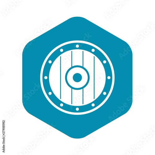 Obraz na plátně Round army shield icon