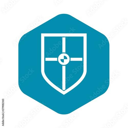 Obraz na plátně Shield for fight icon
