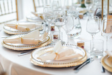 Luxury Table Set Up For A Special Event.