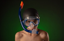 Boy In A Diving Mask