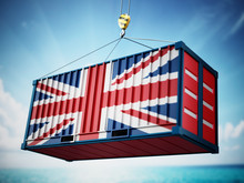 Cargo Container With Flag Of B...
