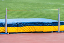 Close-up High Jump Equipment