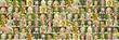 Panorama aktive Gesellschaft Portrait Collage
