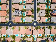 カリフォルニア郊外の住宅地 真俯瞰