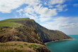 Beautiful sea view with big green rock