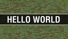 Hello World Text Written On Pr...