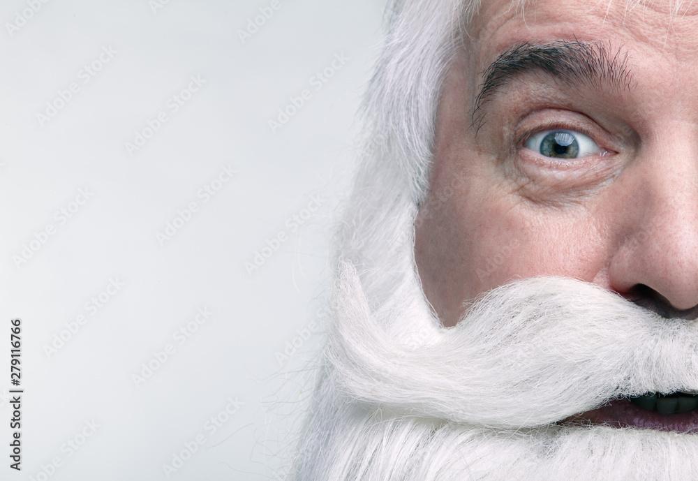 Fototapeta Close-up of the face of a Santa Claus