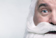 canvas print picture - Close-up of the face of a Santa Claus