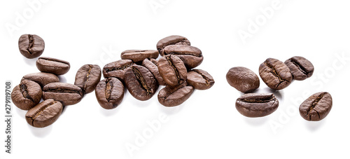 Coffee beans isolated - 279119708