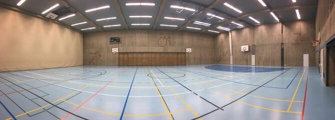 Modern sports hall panorama