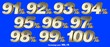 canvas print picture - Percentage numbers VOL.10 Gold metallic finish with removable background.