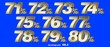 canvas print picture - Percentage numbers VOL.8 Gold metallic finish with removable background.