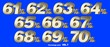 canvas print picture - Percentage numbers VOL.7 Gold metallic finish with removable background.