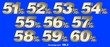 canvas print picture - Percentage numbers VOL.6 Gold metallic finish with removable background.