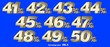 canvas print picture - Percentage numbers VOL.5 Gold metallic finish with removable background.