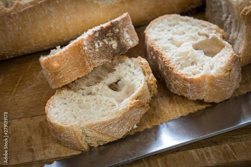 baguette de pain Canvas-taulu