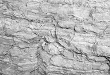 Rough White Stone Wall, Natural Rock Texture