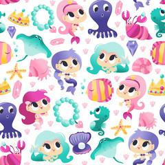 Super Cute Mermaids Sea Cre...