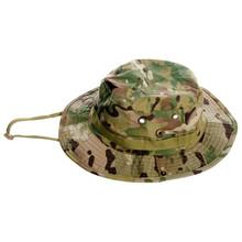 Camouflage Hat Green On White Background Isolation