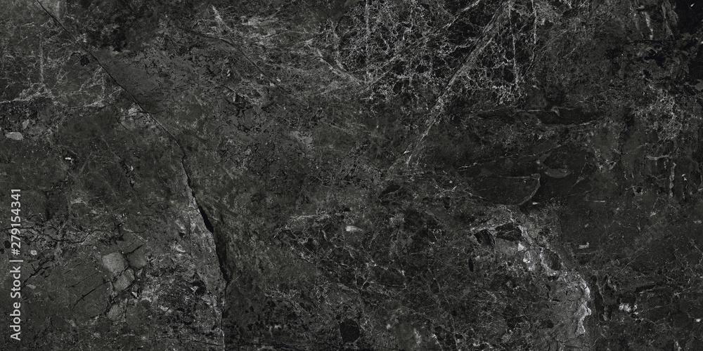 Fototapety, obrazy: Black marble background. Marble stone surface